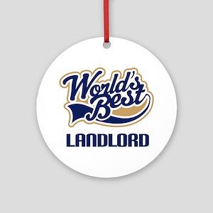 Landlord World's Best Ornament (Round)