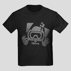Idive Glass Desaturate Kids Dark T-Shirt