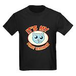 1st Birthday kitty Kids Dark T-Shirt