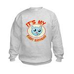 1st Birthday kitty Kids Sweatshirt
