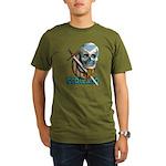 Bearded Skull Organic Men's T-Shirt (dark)