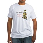 Stick a Sock In It! Fitted T-Shirt