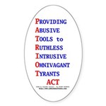 Patriot Act Sticker (Oval)