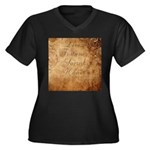 Sacred Honor Women's Plus Sized V-Neck Teeshirt