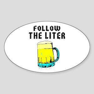 Follow The Liter - Oval Sticker