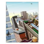 Window Washer's View Poster