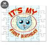 1st Birthday kitty Puzzle