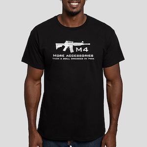 m4 accessories - white Men's Fitted T-Shirt (dark)