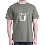 beeb magnet symbol - white Dark T-Shirt