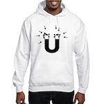 beeb magnet symbol - black Hooded Sweatshirt