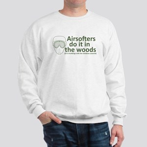 Airsofters do it in the woods - OD Sweatshirt