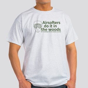 Airsofters do it in the woods - OD Light T-Shi