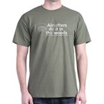 Airsofters do it in the woods - white Dark T-S