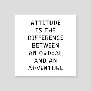 """Attitude Difference Square Sticker 3"""" x 3"""""""