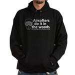 Airsofters do it in the woods - white Hoodie (