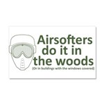 Airsofters do it in the woods - OD Car Magnet