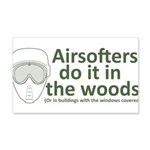Airsofters do it in the woods - OD 22x14 Wall