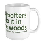 Airsofters do it in the woods - OD Large Mug