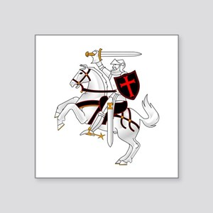 "Seal Team 6 Crusader Square Sticker 3"" x 3"""