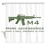 m4 accessories - OD Shower Curtain