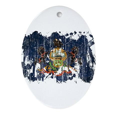 Pennsylvania Flag Ornament (Oval)