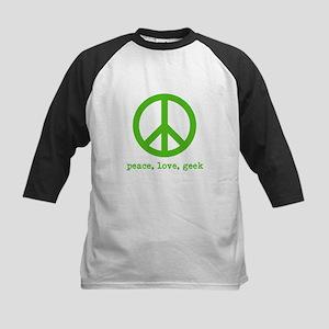 Peace Love Geek Kids Baseball Jersey