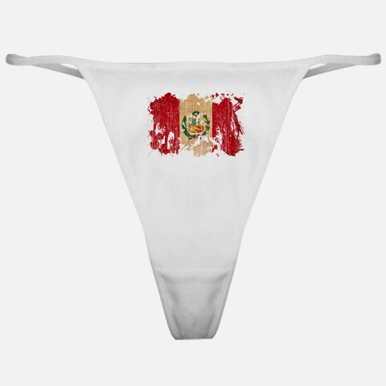 Peru Flag Classic Thong