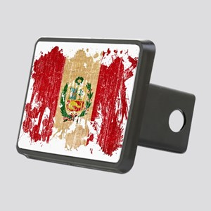 Peru Flag Rectangular Hitch Cover