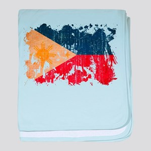 Philippines Flag baby blanket