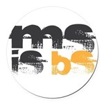 MS is BS (White) Round Car Magnet