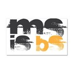 MS is BS (White) Car Magnet 20 x 12
