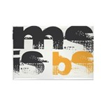 MS is BS (White) Rectangle Magnet (100 pack)