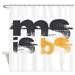 MS is BS (White) Shower Curtain