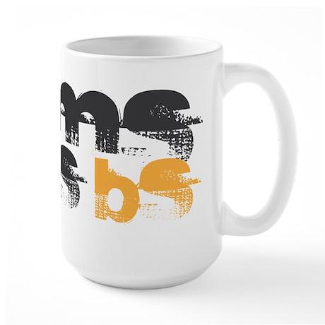 MS is BS (White) Large Mug