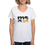 MS is BS (White) Women's V-Neck T-Shirt