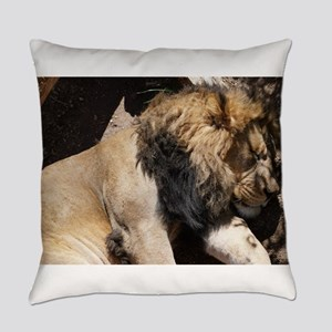 As the loin sleeps Everyday Pillow