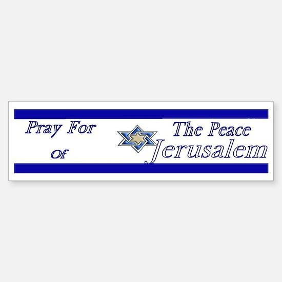 Pray for Jerusalem (Bumper)