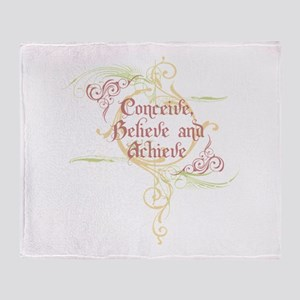Conceive, Believe and Achieve Throw Blanket