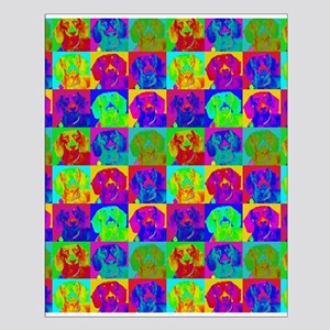 Op Art Doxie Small Poster