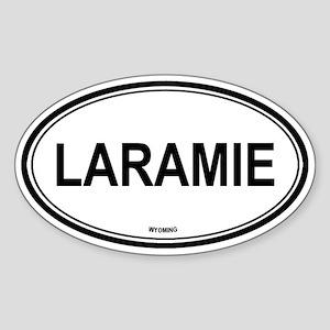 Laramie (Wyoming) Oval Sticker
