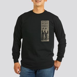 Nudge, nudge Long Sleeve Dark T-Shirt