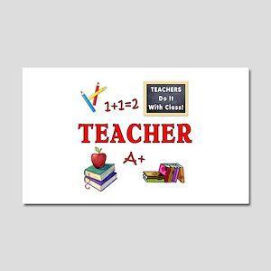 Teachers Do It With Class Car Magnet 20 x 12