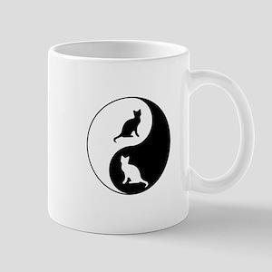 Yin Yang Cats Mugs