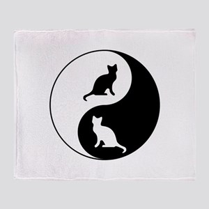 Yin Yang Cats Throw Blanket