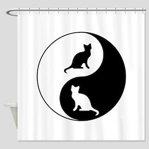Yin Yang Cats Shower Curtain