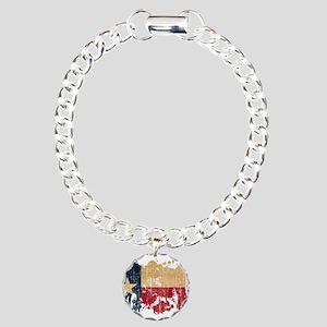 Texas Flag Charm Bracelet, One Charm