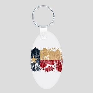 Texas Flag Aluminum Oval Keychain