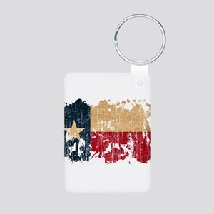 Texas Flag Aluminum Photo Keychain