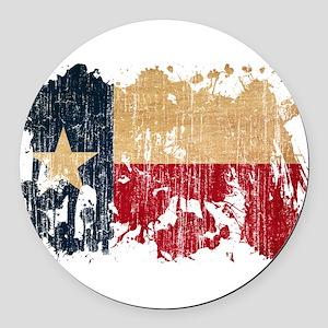 Texas Flag Round Car Magnet