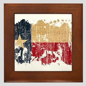 Texas Flag Framed Tile
